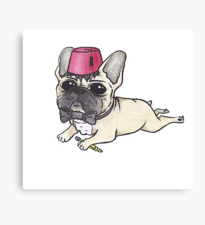 Dr Who French Bulldog- Bow Ties are Cool  Canvas Print