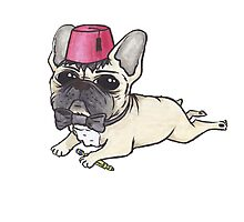 Dr Who French Bulldog- Bow Ties are Cool  Photographic Print
