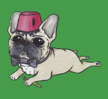 Dr Who French Bulldog- Bow Ties are Cool  One Piece - Short Sleeve