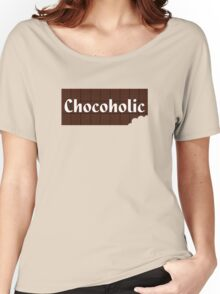 Chocoholic Sticker & Greeting Card Women's Relaxed Fit T-Shirt