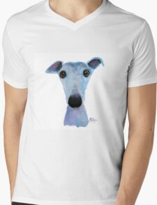 NOSEY DOG 'BLUEBELL' Mens V-Neck T-Shirt