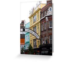 Carnaby Street Greeting Card