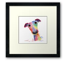 NOSEY DOG 'HANK' BY SHIRLEY MACARTHUR Framed Print