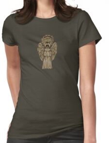 Weeping Angel x French Bulldog Womens Fitted T-Shirt
