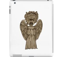 Dr Who- Weeping Angel x French Bulldog iPad Case/Skin