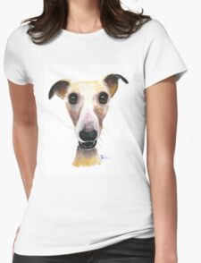NOSEY DOG 'HOLLYWOLLY' BY SHIRLEY MACARTHUR Womens Fitted T-Shirt