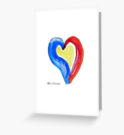Primary Heart Greeting Card