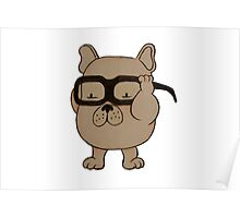 Dr Who- Adipose x French Bulldog Poster