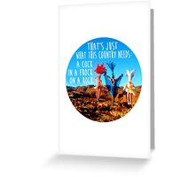 Priscilla - Queen of the Desert Design Greeting Card