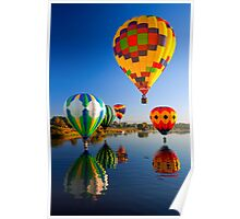 Balloon Reflections Poster