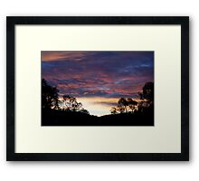 Landscape sunrise Framed Print