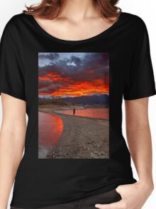 Fire in the sky - Lake Plastiras Women's Relaxed Fit T-Shirt