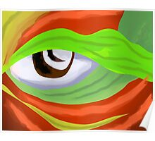 Stunning eye design in attractive colours Poster