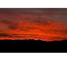 Namib fired sky Photographic Print