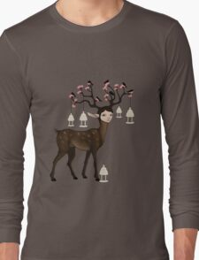 The Happy Springtime Deer! Long Sleeve T-Shirt