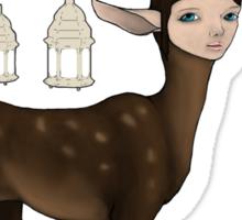 The Happy Springtime Deer! Sticker