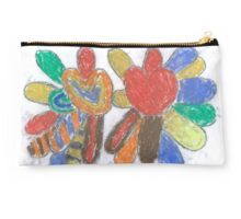 Michelle's Hearts and Flowers Studio Pouch