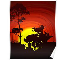 Beauty of sun set and nature Poster