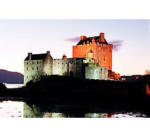Eilean Donan Castle  at night , the Highlands ,  Scotland Photographic Print