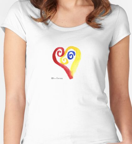 Primary Heart Too Women's Fitted Scoop T-Shirt