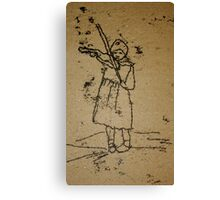 Little Violin Player Canvas Print