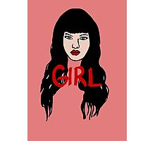 Girl Face Photographic Print