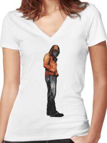 The Lonesome Traveler Women's Fitted V-Neck T-Shirt