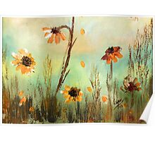 WILD FLOWERS- Acrylic Painting Poster