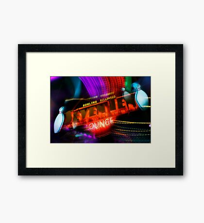 let's bowl Framed Print