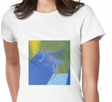 Blue Air Dragon Womens Fitted T-Shirt