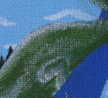 Green Earth Lizard Sticker