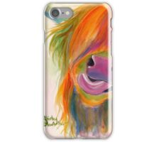 HIGHLAND COW 'JUICY FRUIT JOSIE' BY SHIRLEY MACARTHUR iPhone Case/Skin