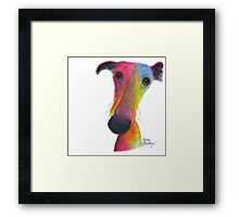 NOSEY DOG 'PUMPKIN' BY SHIRLEY MACARTHUR Framed Print
