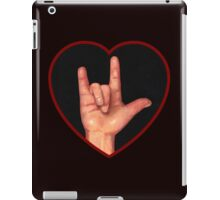 Hand Making Sign for I Love You, American Sign Language iPad Case/Skin