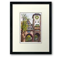 Schwabentor (Schwaben Gate), Freiburg in Breisgau, Germany Framed Print