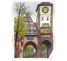Schwabentor (Schwaben Gate), Freiburg in Breisgau, Germany Poster