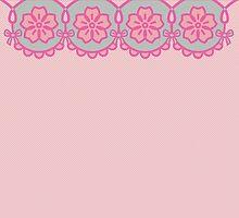 aqua + pink lace by sweetlazytime