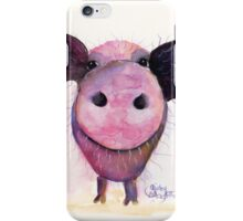 NOSEY PIG 'Pigs CAN Fly!' BY SHIRLEY MACARTHUR iPhone Case/Skin