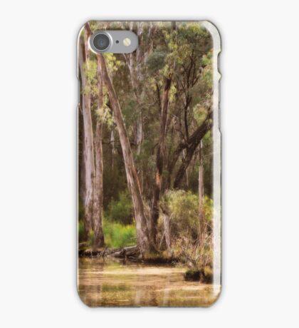 Trees at Gunbower, near Cohuna, Victoria  by Lorraine McCarthy iPhone Case/Skin