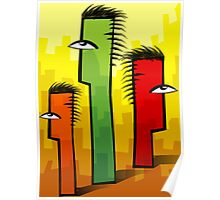 Combs in different colours Poster