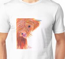 HIGHLAND COW 'GINGER COW LICK' BY SHIRLEY MACARTHUR Unisex T-Shirt
