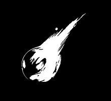 Final Fantasy VII logo minimal white by Greven