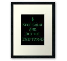 Get the hood Framed Print