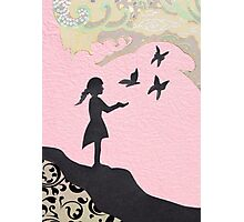 Girl with Butterflies Photographic Print