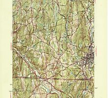 Massachusetts  USGS Historical Topo Map MA Webster 352321 1945 31680 by wetdryvac