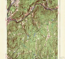 Massachusetts  USGS Historical Topo Map MA Millers Falls 351903 1941 31680 by wetdryvac