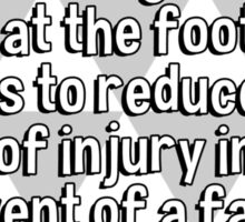 Stack empty Cornflake packets along hallways and at the foot of stairs to reduce the risk of injury in the event of a fall. Sticker