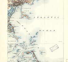 Massachusetts  USGS Historical Topo Map MA Boston Bay 352528 1903 62500 by wetdryvac