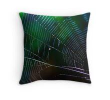 Into The Web Throw Pillow