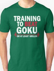 DragonBall Z Goku  Training To Beat Goku Train Insaiyan Or Remain The Same Train Insaiyan It's Over 9000 Goku's Gym Anime Cosplay Gym T Shirt T-Shirt